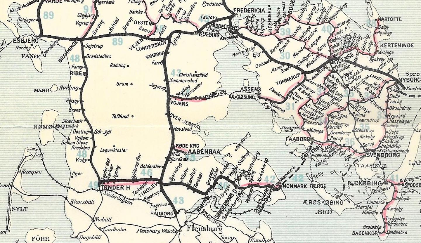 Den sønderjyske infrastruktur før og efter 1920