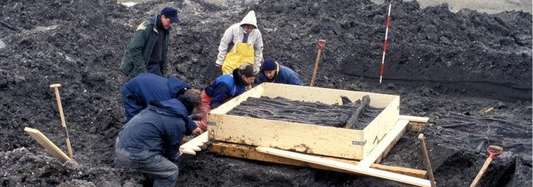 Fiskegærde arkæologer Slivsø Museum Sønderjylland