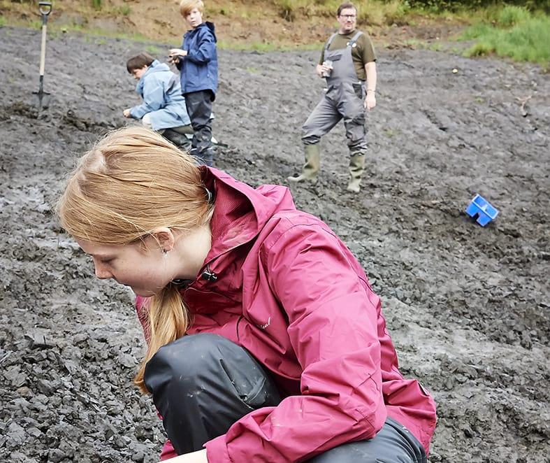 Med palæontologen på arbejde